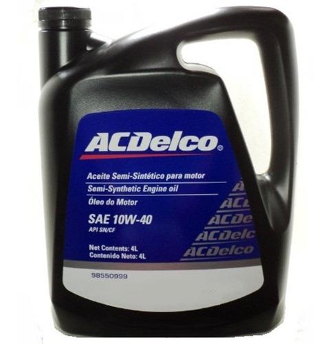 Aceite 10w40 Original Acdelco 4lts General Motors Api Sn/cf