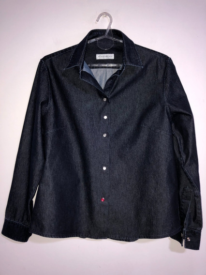 Camisa De Jean Importada Entallada Talle L