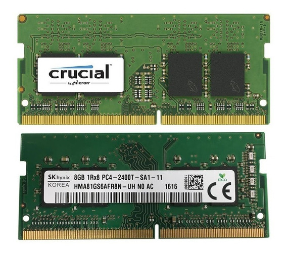 16 Gb Ram (2x 8gb) Pc4-19200 Ddr4-2400 Cl17 Sodimm Notebook