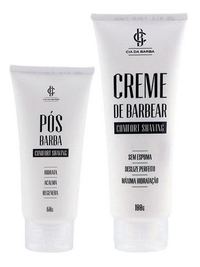 Kit Creme De Barbear E Pós Barba Comfort Cia Da Barba