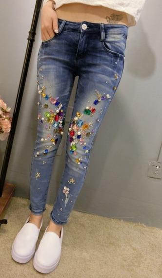 Calça Jeans Com Pedrarias 04