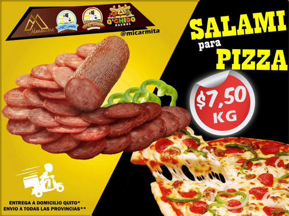 Salami Rebanado Pizza Queso Domicilio Quito - Env Provincias