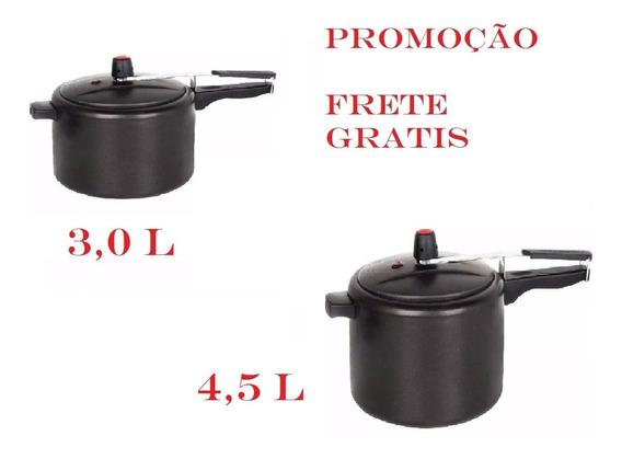 Kit De Panelas De Pressão Jogo 3 E 4,5 Litros Antiaderente.