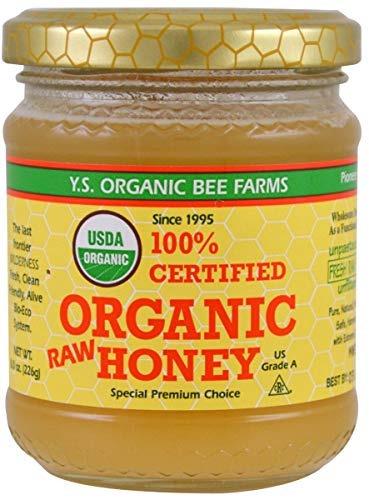 Ys Eco Bee Granja 100% Organico Certificado Raw Miel 8 Oz (2