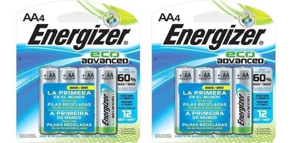 8 Pilhas Alcalinas Aa 1,5v Eco Advanced Energizer