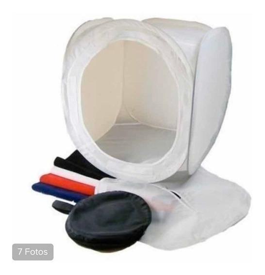 Tenda Difusora Para Fotografia De Produtos 50x50 Com Tecidos