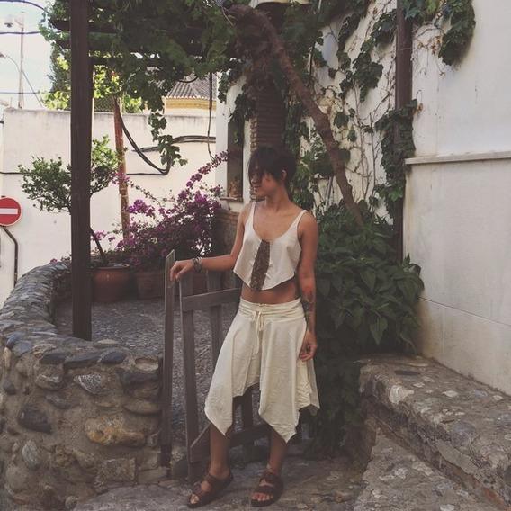 Saia Nômade De Pontas - Goa Nomads. Boho - Hippie - Elfa