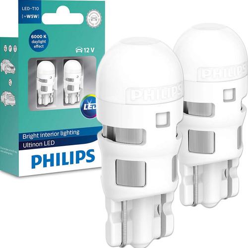 Imagem 1 de 6 de Lâmpada Philips Pingo Ultinon Led 6000k W5w T10 Lanterna
