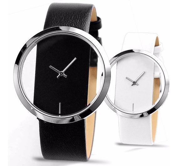 Relógio Masculino De Pulso Unisex Transparente Quartzo