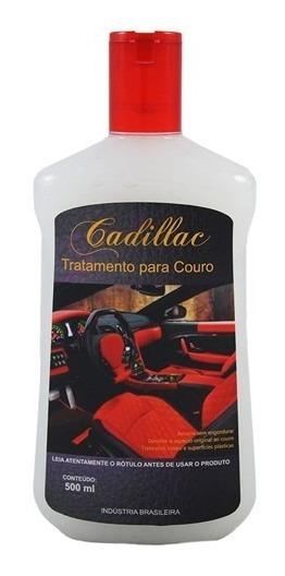 Tratamento De Couro Cadillac 500 Ml Limpa Hidrata Couros