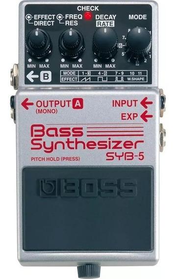 Pedal Sintetizador Para Baixo Boss Syb-5 Bass Synthesizer