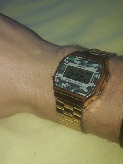 Relógio Casio Dourado Camuflado