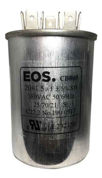 Capacitor Eos D124617 20+1,5uf 380v