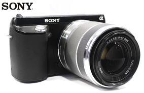 Câmera Sony Nex F3 16mp Lente Zoom 18-55mm Mirroless Aps-c