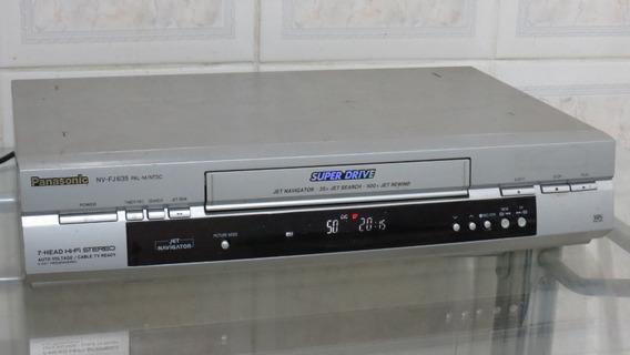 Vídeo Cassete Panasonic Nv -fj635 - 7 Cabeças Funcionando
