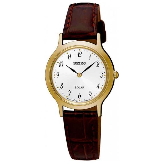 Relógio Seiko Solar Feminino Sup370b1 B2nx Diâmetro 26mm