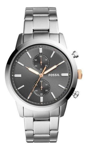 Relógio Fóssil Masculino Casual Townsman Prata - Fs5407/1cn