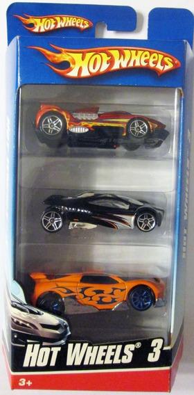 Hot Wheels Paquete De 3 Carritos, Escala 1/64.