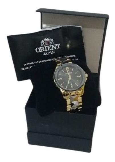 Relógio Orient Fem. Dourado/preto