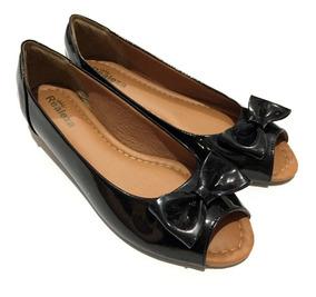 Sapatilha Peep Toe Feminina Confort Sapato Aberto Redondo