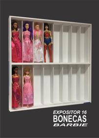 Estante Expositor Bonecas Barbie Monster High 16 Nichos