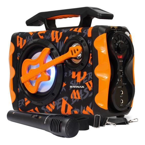 Caixa Som 120w Rms Karaokê Amplificada Bluetooth Briwax Usb