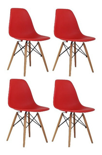 Cadeira Charles Eames Wood Design Kit 04pc Nf