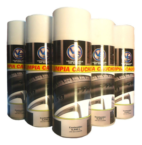 Spray Limpia Cauchos V.sq 440 Ml. Mayor Y Detal