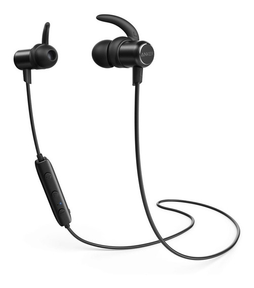 Fone Bluetooth Anker Soundbuds Slim Preto