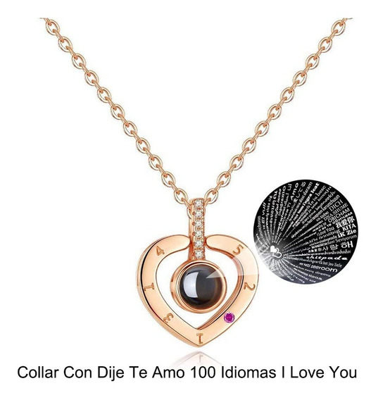 Collar Te Amo En 100 Idiomas / Original / Acero Inoxidable