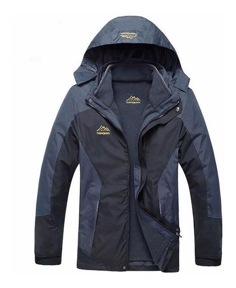 Casaco + Jaqueta Fleece Inverno-30°c 3 X 1 Prova Água/vento