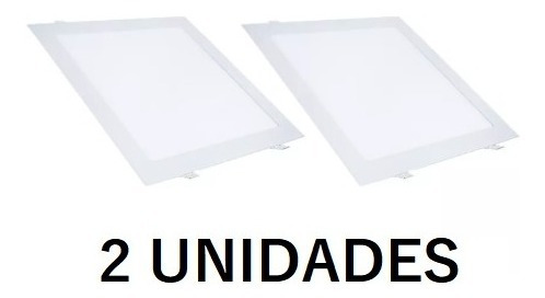 Kit 2 Plafon Led 25w Quadrado Embutir Painel Branco Frio
