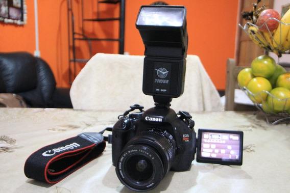 Camera Canon T3i Com Lente 18-55mm E Flash