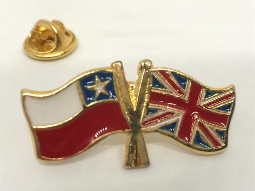 Pin Bandera Chile Y Gran Bretaña Entrelazadas