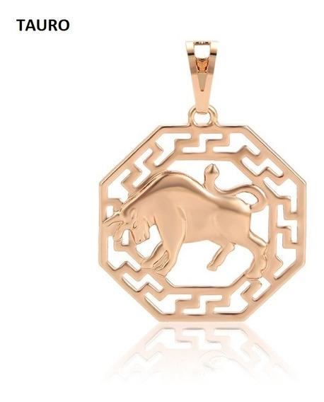 Collar Y Dije Zodiaco Oro Laminado 18k Envío Gratis