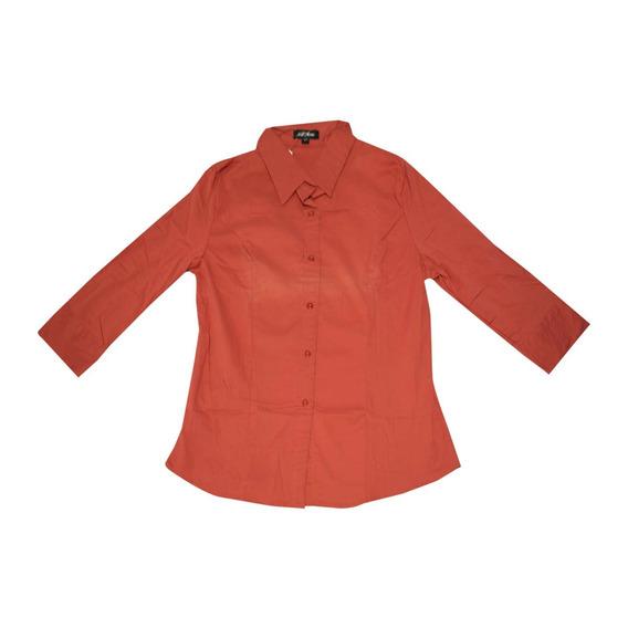 Blusa Nell Bassics Mujer Talla L Color Naranja