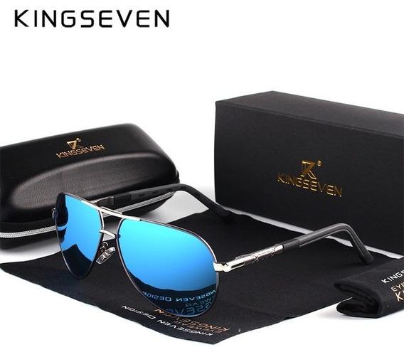 Óculos De Sol Kingseven De Luxo Estilo Aviador - Azul
