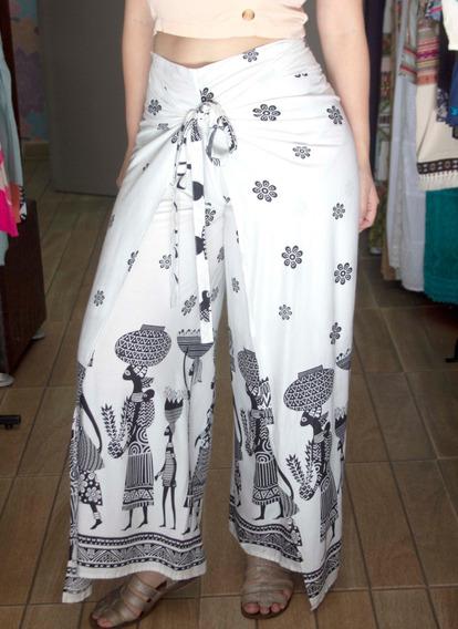 Calça Indiana Pantalona Estampada Premium 6774