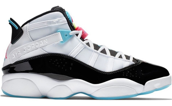 Tenis Nike Air Jordan 6 Rings White Black Pink South Bech Ña