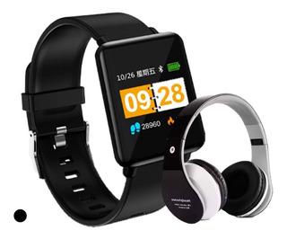 Relógio Bluetooth Smartwatch Android + Fone Sem Fio Bluetoot