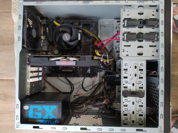 Pc Gamer Gtx 1060 Oc 6gb, Ryzen 5 1600, 16gb Ram, Ssd 500gb