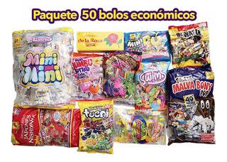 Paquete Dulces Para 50 Bolos Económicos Incluye Bolsitas