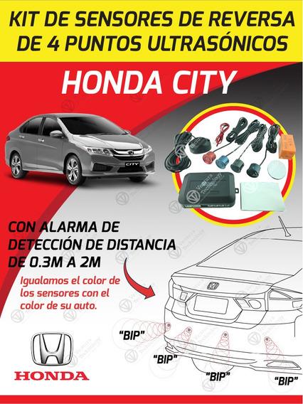 Cámara De Reversa Mas Sensores Para Honda City 2014-2017