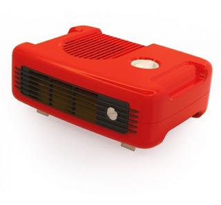 Aquecedor De Ar 110v 1400w Vermelho Retrô
