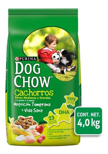 Imagen 1 de 1 de Alimento Perro Croqueta Cachorro 4.0 Kg Dog Chow Purina