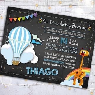 Tarjetas De Invitacion Con Globo Aerostatico En Mercado