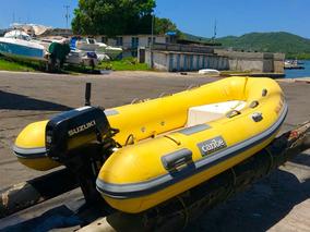 Bote Caribe C 10 Con O Sin Motor Fuera De Borda 15 Hp Suzuki