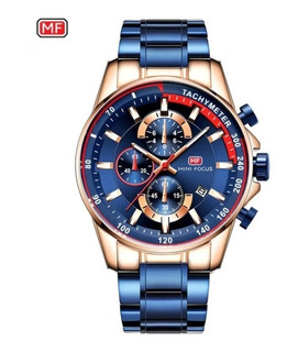 Reloj Hombre Lujo Mini Focus Cuarzo Cronografo