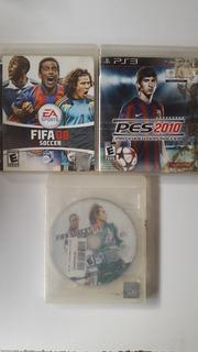 Video Juegos Ps3 Fifa Soccer 08 09 Y Pes 2010