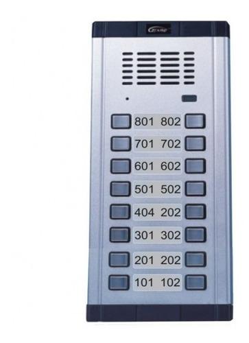Kit Estacion Portero Genway 16 Botones + Telefonos + Fuente